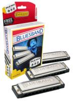 Hohner Blues Band Harmonica Value Pack Key of C G A (3P1501BX)