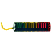 Hohner AIRBOARD 32 Key Rasta Print with Bag and Blowflow Mouthpiece (AB32-RASTA)