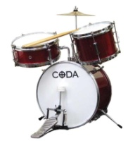 Coda 3 Piece Junior Drum Set DS-010-R (DS-010-R)
