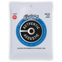 Martin MA140 Acoustic Guitar Strings 80 20 Bronze Light Gauge 12-54 (MA140)