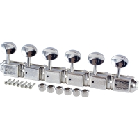 Grover 133N6 Deluxe Mini 6-In-Line Tuners Vintage Nickel (133N6)