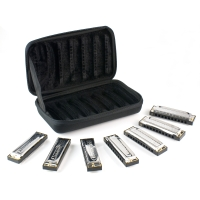 Hohner 1501/7 Blues Band Harmonica Set of 7 with Case (1501/7)