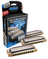 Hohner 3P532BX Blues Harp Pro Pack Includes the Keys of C, G, and A (3P532BX)