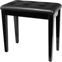 Palatino Leather Padded Black Piano Bench BP-090-BK (BP-090-BK)