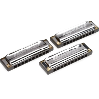 Hohner Progressive Series Rocket  Harmonica Pro Pack Key of C G A (M2013XP)