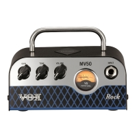 Vox MV50 CR Rock 50 Watt NuTube Mini Amp Head (MV50CR)
