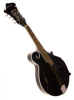 Savannah SF-100 F-Style Black Mandolin with Featherweight Case (SF-100-BK)